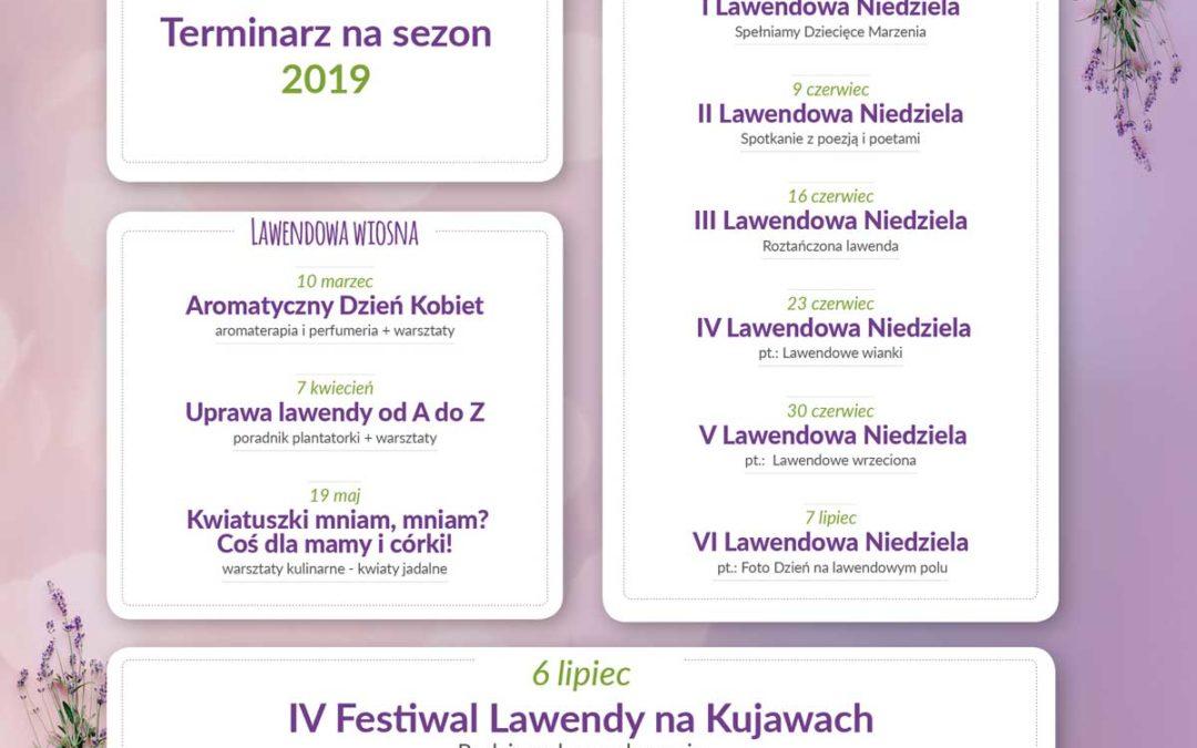 Terminarz wydarzeń na Lovendzie Kujawskiej